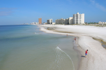 view from Panama City Beach in Florida